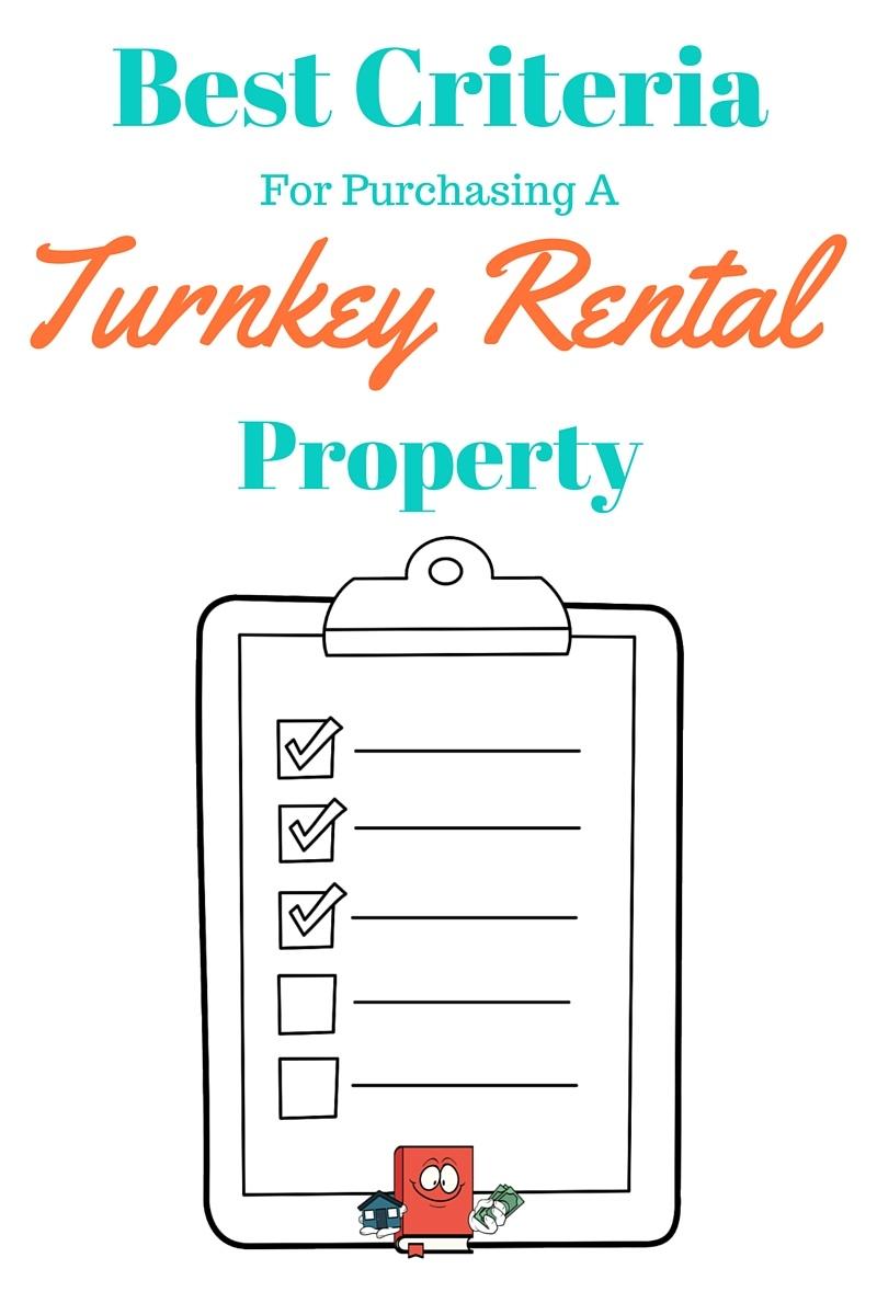 turnkey rental criteria