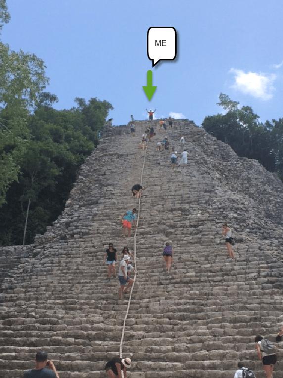 Me on mayan ruin