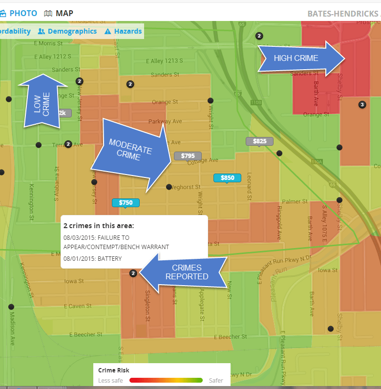 trulia crime heap map