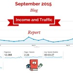 Blog Income Report and Traffic Stats – September 2015 (4th month of blogging!)