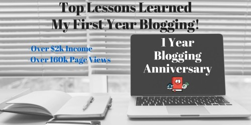 Top Lessons Learned After One Year Of Blogging + Yearly Blog Income Report