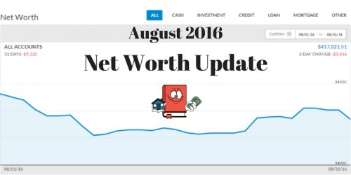 August 2016 Net Worth Update